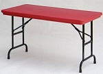Correll Adjustable-Height Folding Table RA2448-C Color 24 x 48 Top