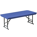 Correll Preschool Colored Adjustable Folding Tables RA3060-S-C 30 x 60