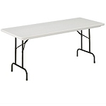Correll Preschool Adjustable-Height Folding Tables RA3060-S 30 x 60