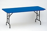 Adjustable Leg Folding Table Correll Ra3072-c Colored Plastic Top