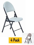 Correll Folding Chairs - RC500 Blow Molded Contoured Seating - 4 Pack