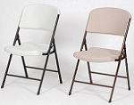 Correll Folding Chairs - Blow-Molded Fan-Backed Chair - 4 Pack