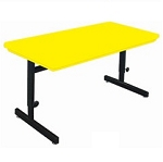 Correll Rcsa3072 Blow-Molded Plastic Computer Table 30X72