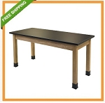 Nps 6' Science Lab Table - Black Chemsurf Top