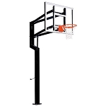 Goalsetter In-Ground Basketball Hoop Internal Captain 60 in Glass Goal