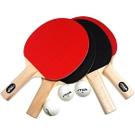 Stiga T1334 Classic Table Tennis 4-Player Paddle Set