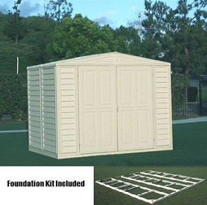 Duramax 8x8 Duramate Vinyl Shed and Foundation