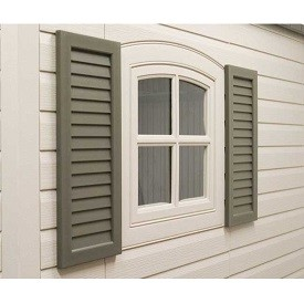 Lifetime Shed  0111 2-Piece 24-in Shutters for 8' & 11' Storage Sheds