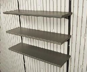 Lifetime Outdoor Shed 0115 Steel Reinforced 14x30 In Shelves 5 Pack