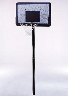 "SO Lifetime 1081 44"" Black Bevel Impact In-Ground Basketball Hoop Goal"