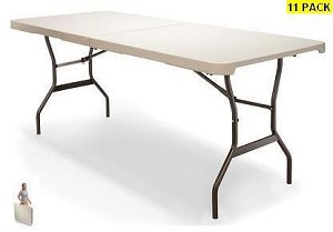 SO 11 Lifetime 4531 Versalite 5' Fold-in-Half Folding Tables Beige Top