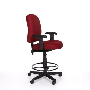 Computer Task Chair - 118-2-aa-dk Office Chair with Arms and Footrest