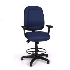 OFM Office Task Chair 125-DK Ergonomic Chair with Footrest