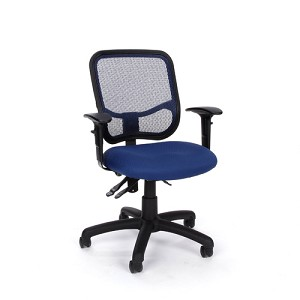 Computer Task Chair OFM 130-AA3 Office Chair Mesh Back Adjustable Arms
