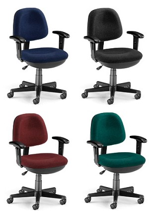 OFM Computer Task Chair - 150-aa Adjustable Fabric Chair with Arms