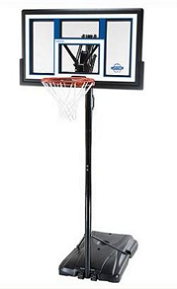 "SO Portable Basketball Hoop 1525 Courtside 50"" Shatter Guard Backboard"