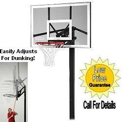 "SO Lifetime 1650 In-Ground 48"" Goal System Adjustable Basketball Hoop"