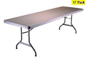 SO 2987 17 Pack Lifetime 8 ft Putty Folding Tables