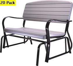 SO 2870 20 PACK 4 ft Putty Lifetime Outdoor Glider Bench