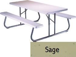 SO 4 PACK Lifetime 2124 6 ft Sage Folding Picnic Table