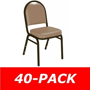 40 Stacking Office Chairs National Public Seating 9200V Vinyl Seat