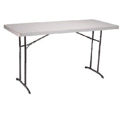 Lifetime Adjustable-Height Folding Table 22920 Almond 6 ft. Top