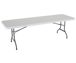 Lifetime 8' Rectangular Table 1 Pack with White Granite Color Top