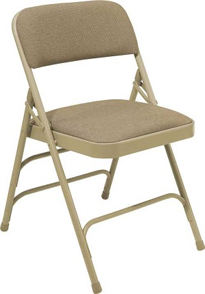 Nps Fabric Folding Chairs - 2300 Series with Triple Brace - 4 Pack