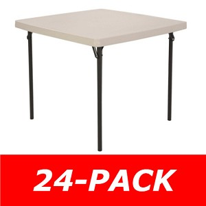 Lifetime Card Tables 2301 37 in. Almond Top 24 Pack