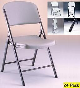 SO 2812 24-Pack Lifetime Putty Folding Chairs