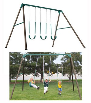 SO Lifetime 263000 Heavy Duty Residential 10 Foot Swing Set