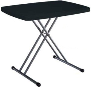 Lifetime Personal Tables - 280056 Black Folding Table 20 x 30 Top