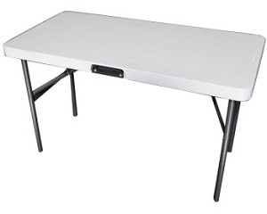 Lifetime Tables - 280118 Almond 4 Ft. Table with Handle