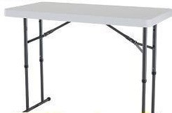 SO Lifetime 8040 Accent 4 ft Stone Gray Folding Table