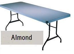 SO 8081 Lifetime Accent 8 ft Almond Folding Table