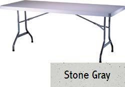 SO 2902 Lifetime 6 ft Stone Gray Folding Table