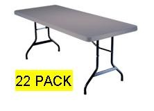 SO 2914 22 PACK Lifetime 6 ft Putty Folding Tables