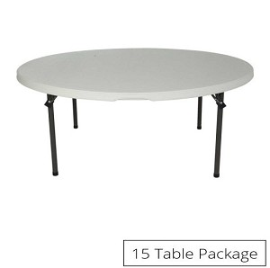 15-Pack Lifetime Round Folding Tables 2970 (now 880301) 60-in White Top