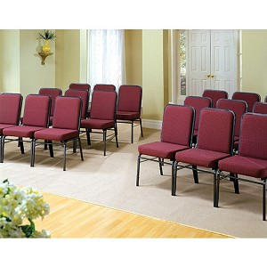 4 Ofm 300-Sv Comfort Class Foam Padded Stacking Stack Chairs