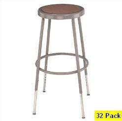 32 Adjustable Height Lab Stools NPS National Public Seating 6224h