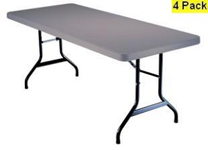 SO 2914 4 PACK Lifetime 6 ft Putty Folding Table