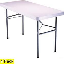 "SO 42950 4 Lifetime 2950 White 48"" Utility Folding Lightweight Tables"