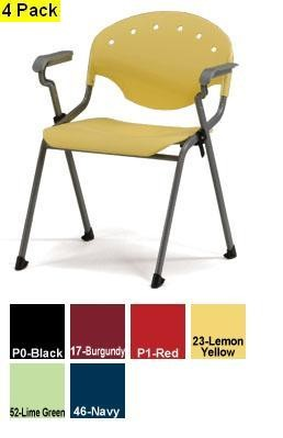 Ofm 306 (4 Pack) Rico Stack Chair With Arms