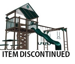 Lifetime Swing Sets 438001 Quality Metal Playground Playset Earthtone