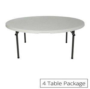 Lifetime 5-ft 42971 Round Tables 4 Pack with Almond Color Top