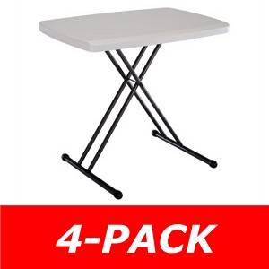 Lifetime Personal Tables - 48240 30 inch Almond Top - 4 Pack