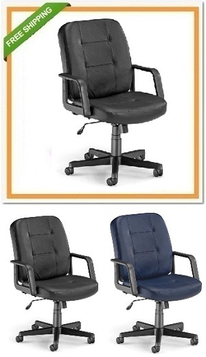 OFM 505-L Executive Conference Office Low-Back Leather Chair