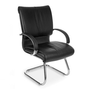 OFM Sharp Series Leather Guest Chair