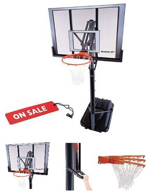 "SO Lifetime Reebok 52"" Shatter Guard Portable Basketball System"