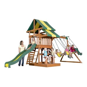 Independence Wooden Swing Set 55008com with Swings and Slide